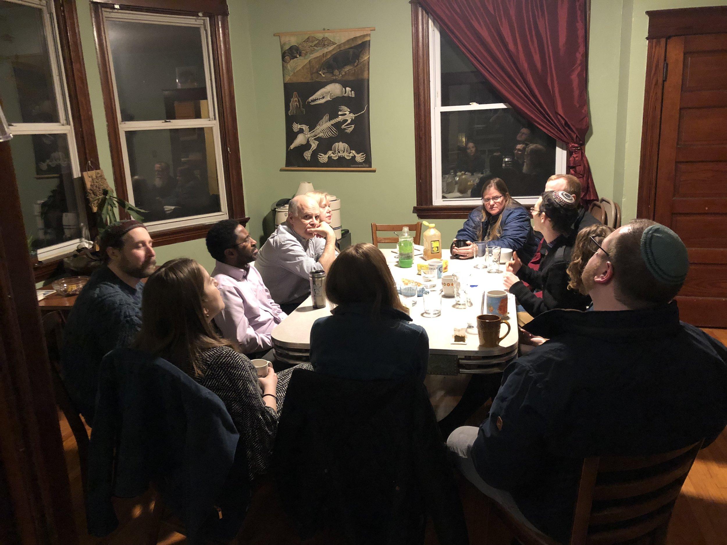 Havayahniks gather on a regular basis to learn Jewish skills, texts, and history.