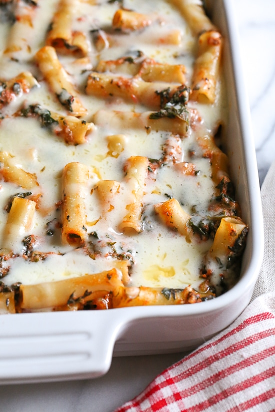 Skinnytaste, Baked Ziti with Spinach