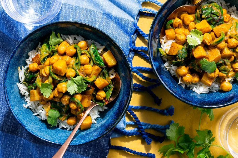 BEST Sun Basket Option:  Curried Chickpeas and Sweet Potato over Basmati Rice  (580 Calories)  WW: 8