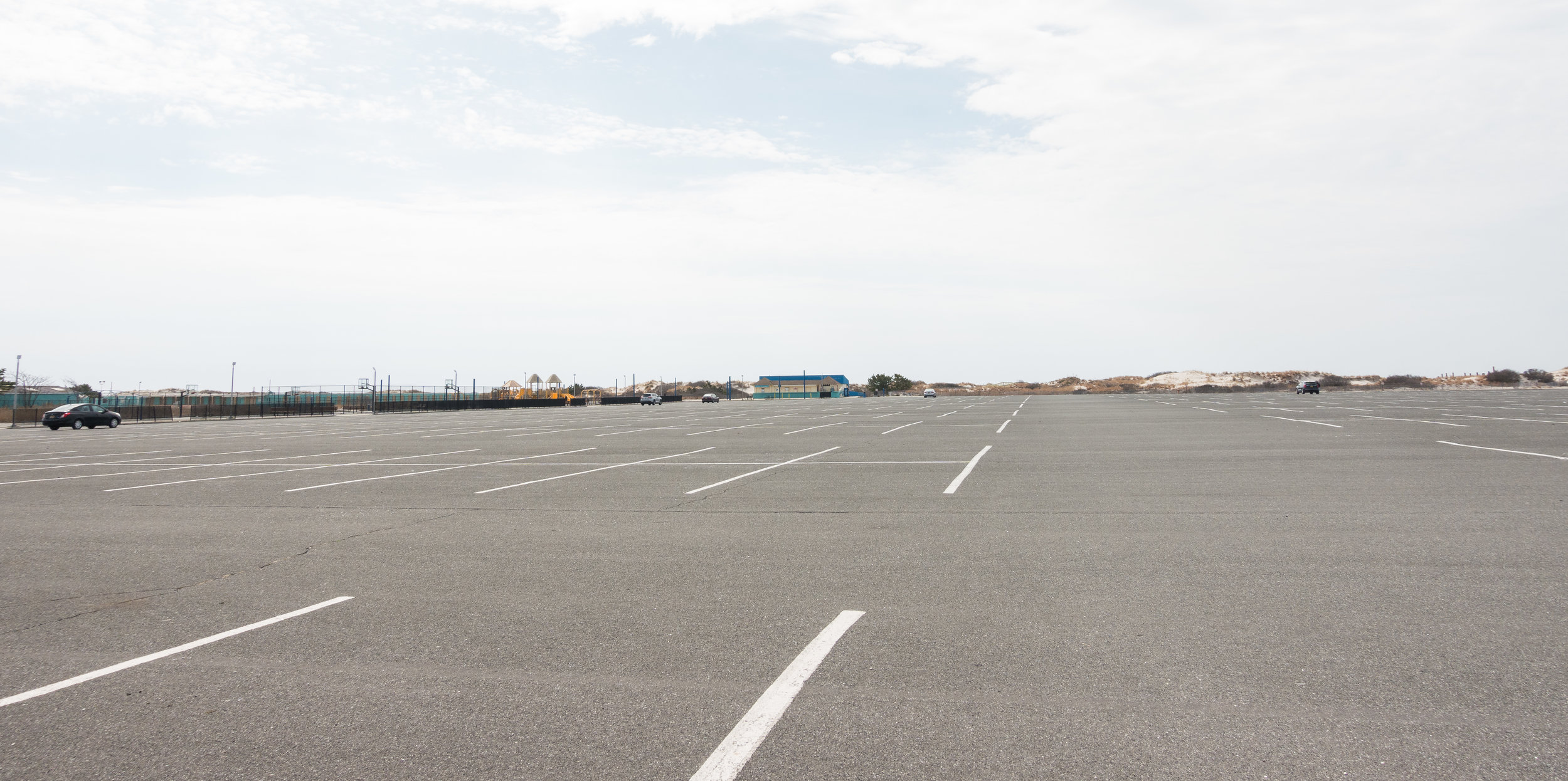 View from the Parking Lot entrance with Restroom building in the center of the image