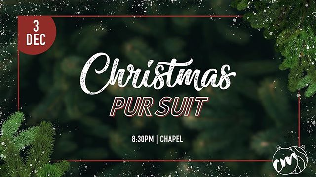 Christmas Pursuit is in one week! It is going to be an amazing night, you won't want to miss it! #nuworship
