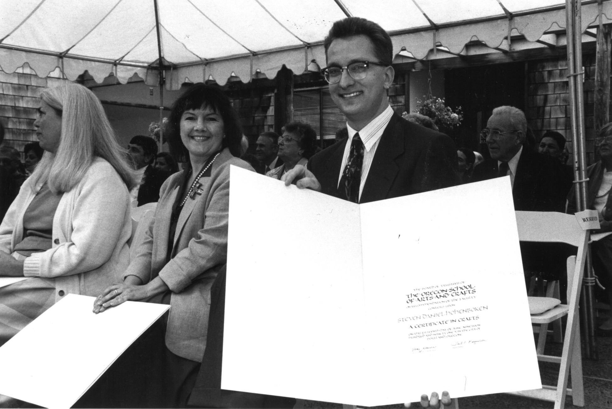 Janene Cheng and Steve Hohenboken, first class of OSAC's Certificate in Craft, 1991 (OCAC)