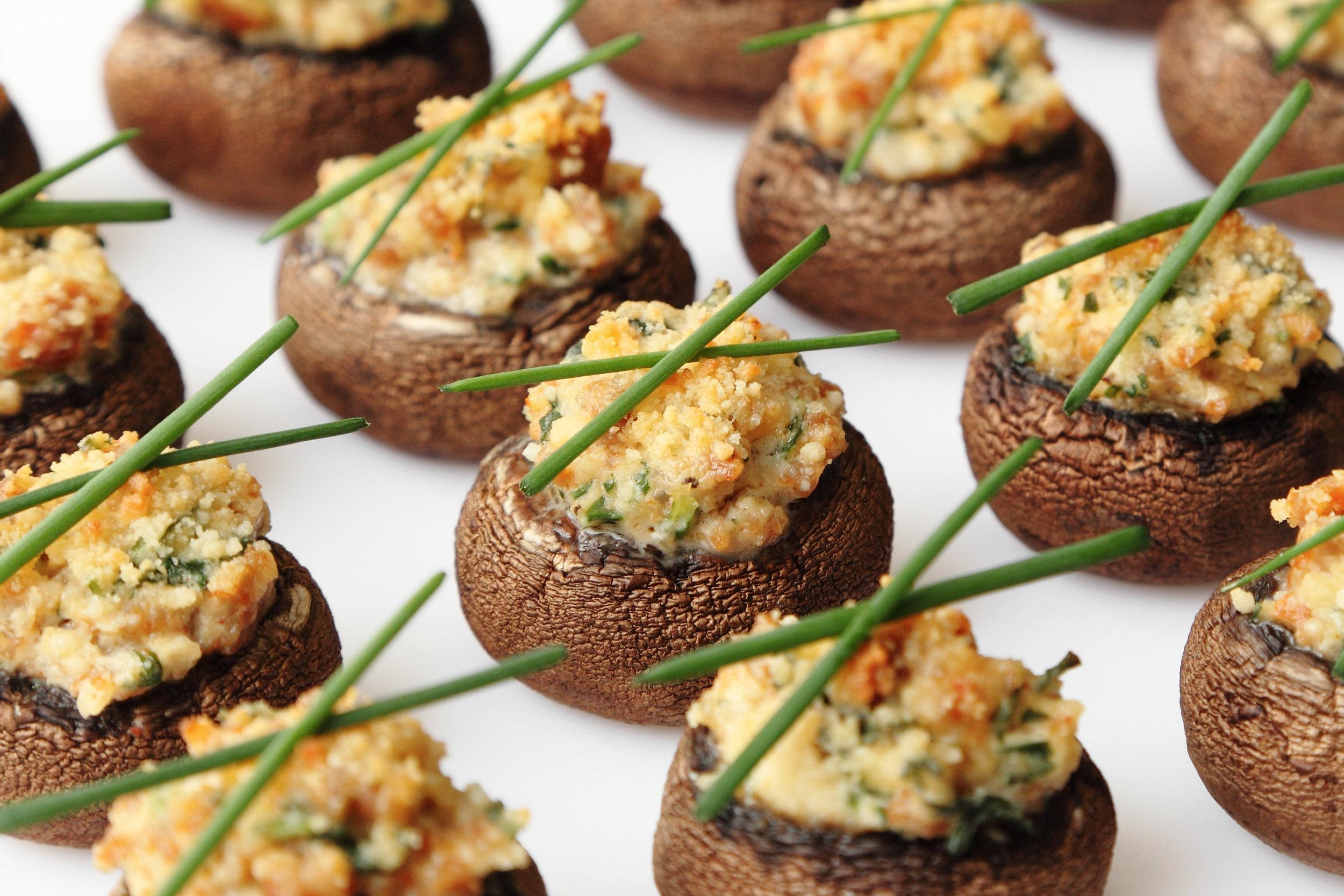 Spinach/Paneer Stuffed Cremini -