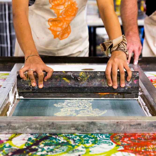 Workshops/ Experiences - Signature Prints periodically runs studio tours and screen-printing workshops, designed to give a rare insight into the processes that go into creating our unique products.