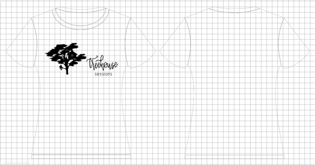 T-shirt design featuring digitized lettering