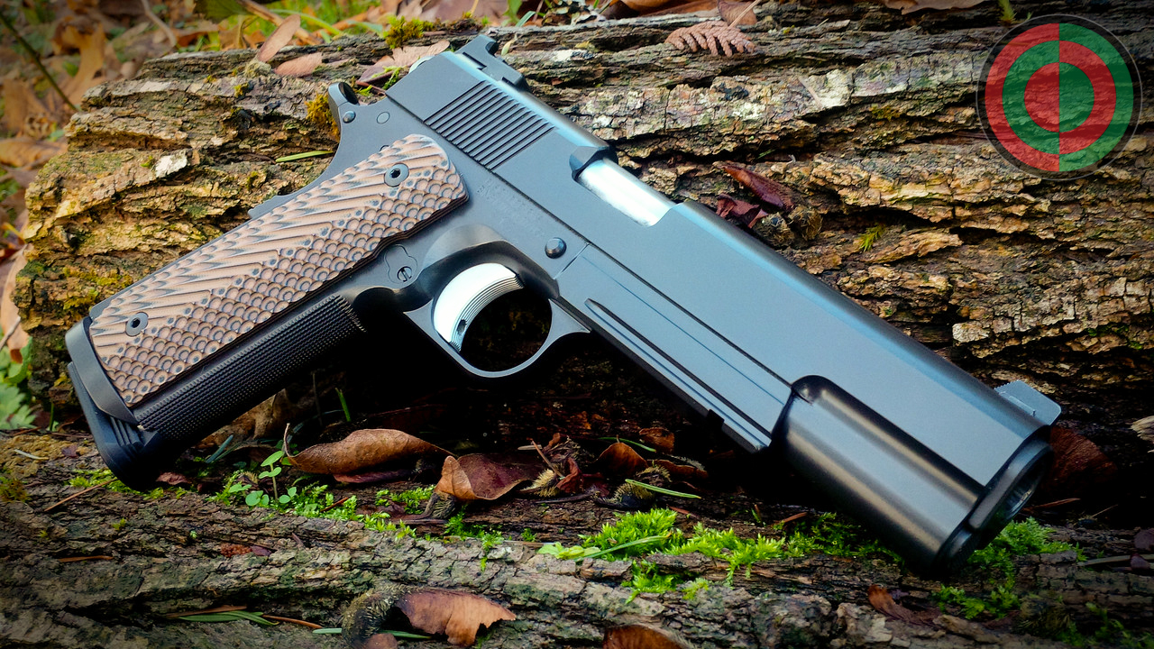 Fusion 1911 that received a make over that included machining the frame to match the dust cover to the slide ball-cuts and refinish with Cerakote.