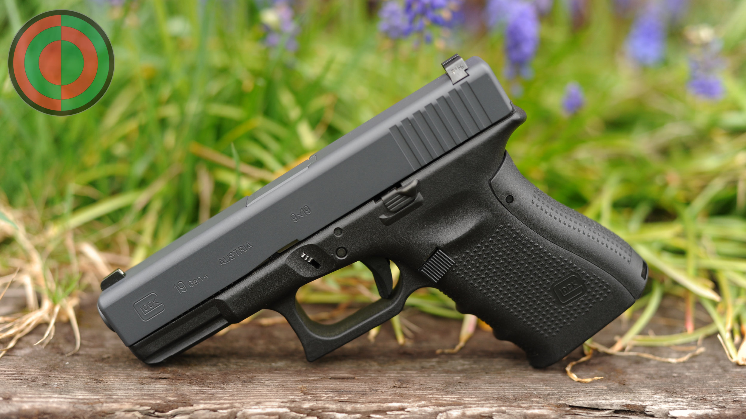 Glock 19 featuring a Black Hammer Grey slide and barrel.