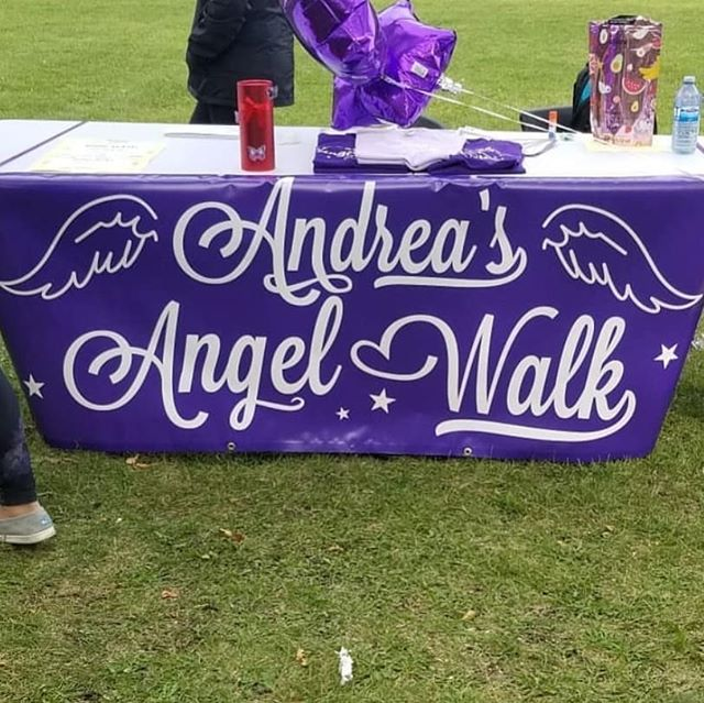 """Heartfelt thank you to everyone who braved what started out as a chilly morning. #andreasangelwalk is close to my heart, and so is raising awareness for sickle cell disease. So thank you all for helping me spread the word. Start the conversation y'all! Tell people what you did this weekend, let them know why. Sickle Cell is NOT a """"black"""" disease. It affects many different races. We stand together as people supporting other people and for that I am grateful. 💜🙏🏿✨"""