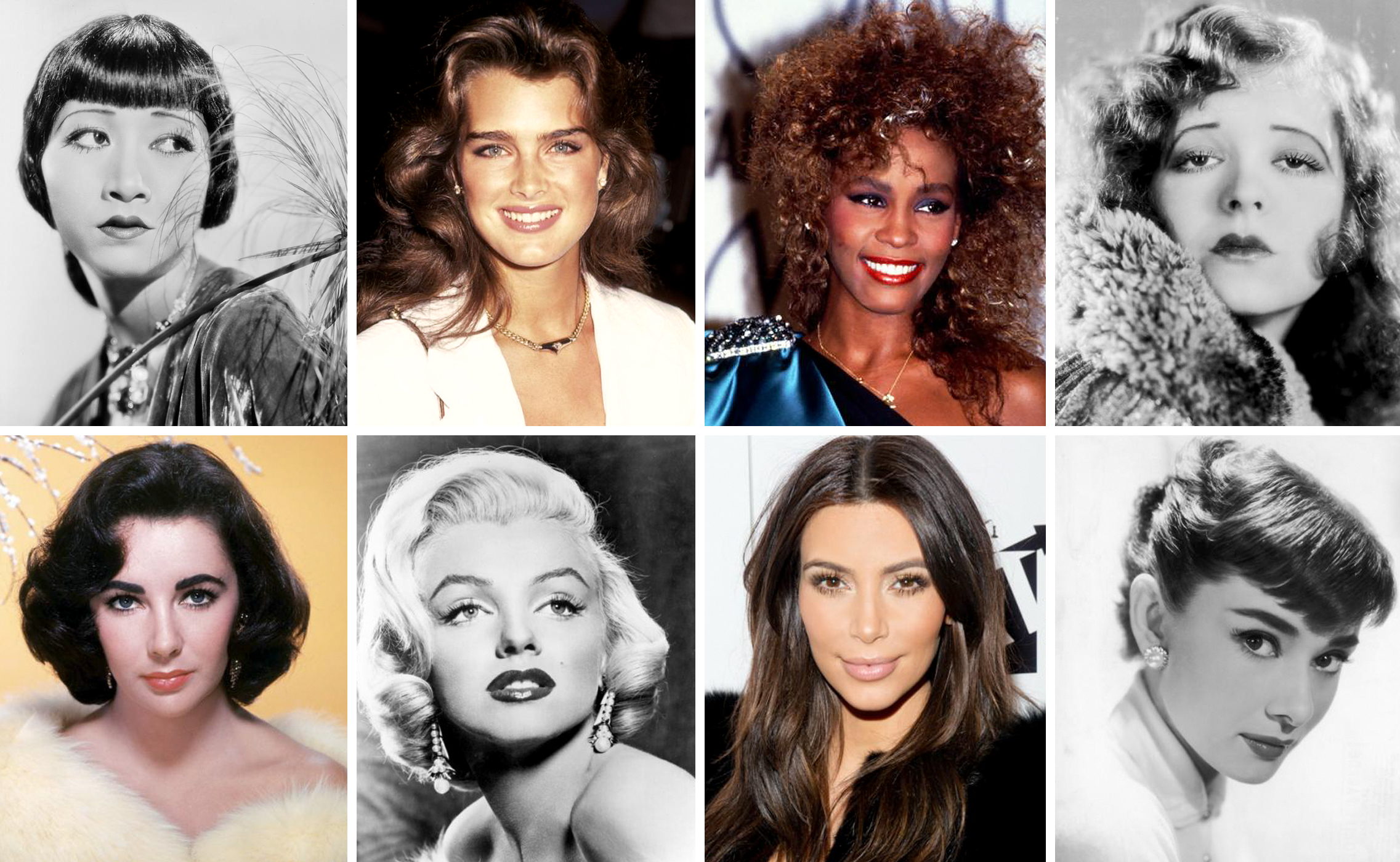 The Most Popular Brow Shapes By Decade - photo research for InStyle.comNovember 2015