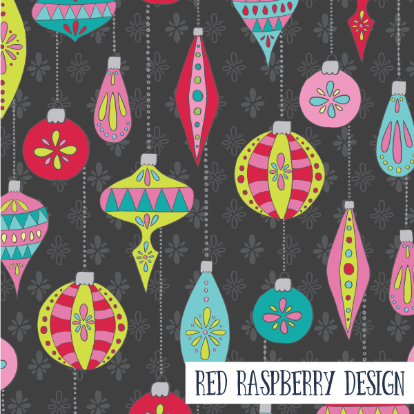 Christmas Baubles by Red Raspberry Design