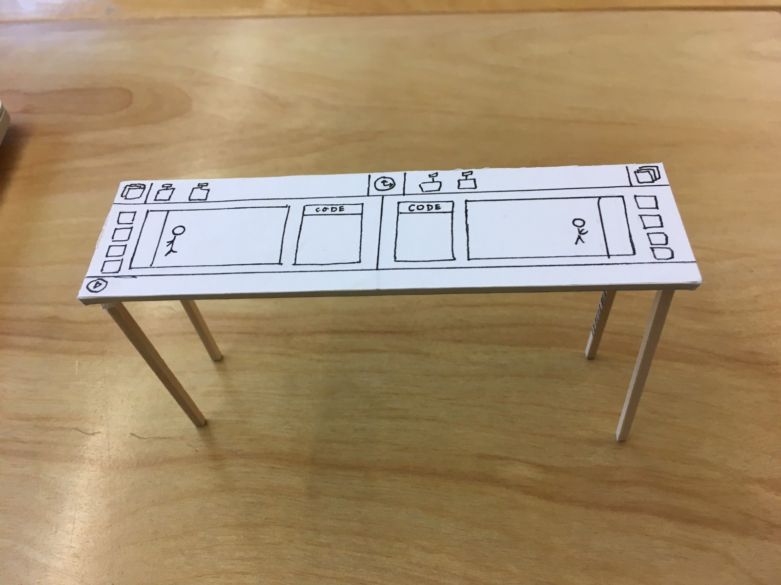 prototype we made before making the physical table