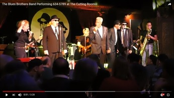 The Blues Brothers Band Performing 634-5789 at The Cutting Room, New York City, November 2017 .