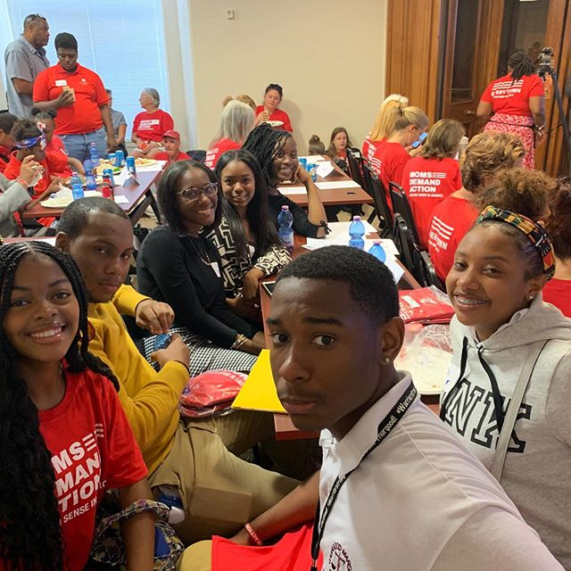 Pathway leaders are back home spending the day advocating with @momsdemand at the DC City Council #keepdcalive