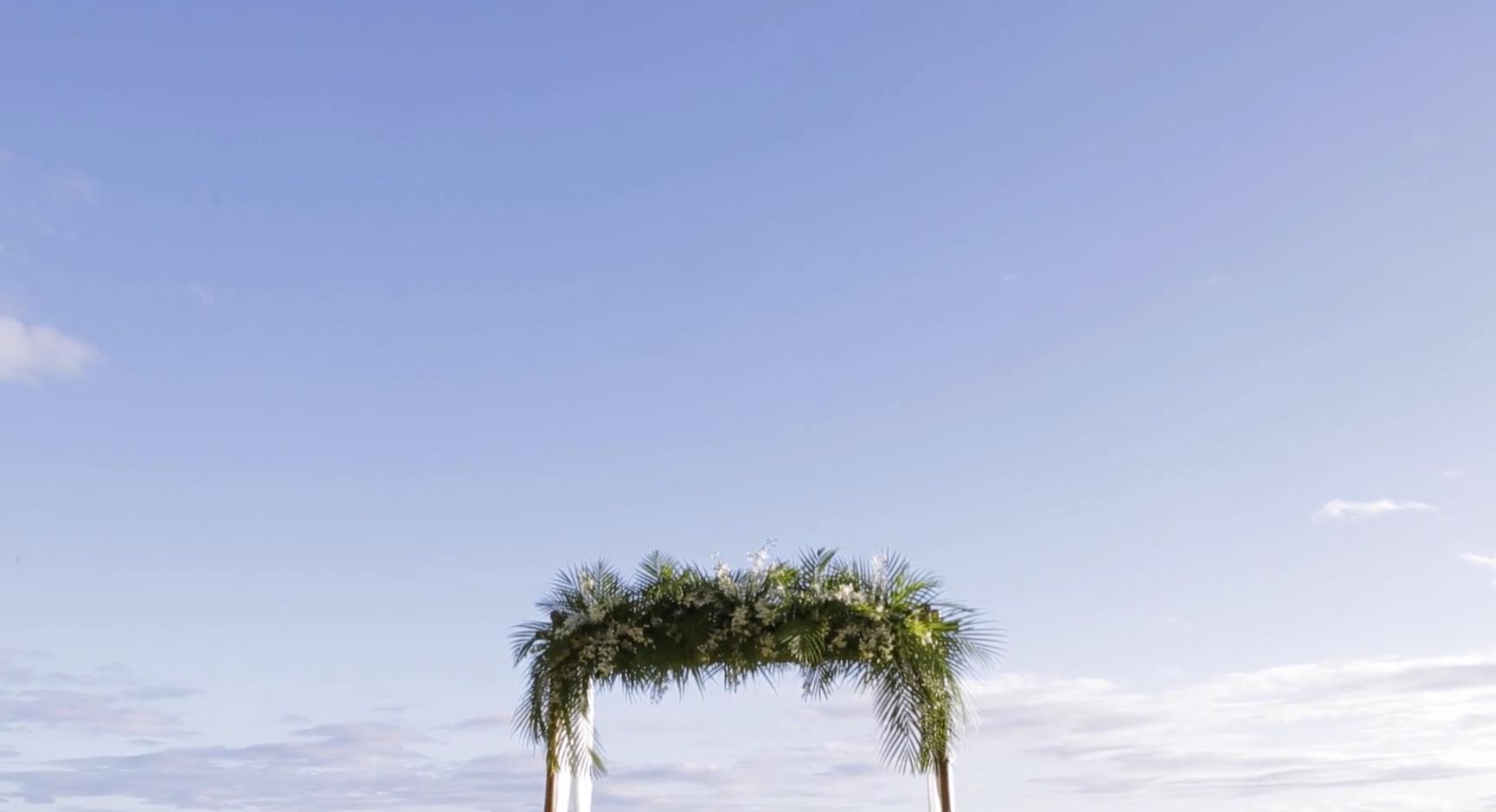 Tropical Ceremony Arch // Palm leaf decor