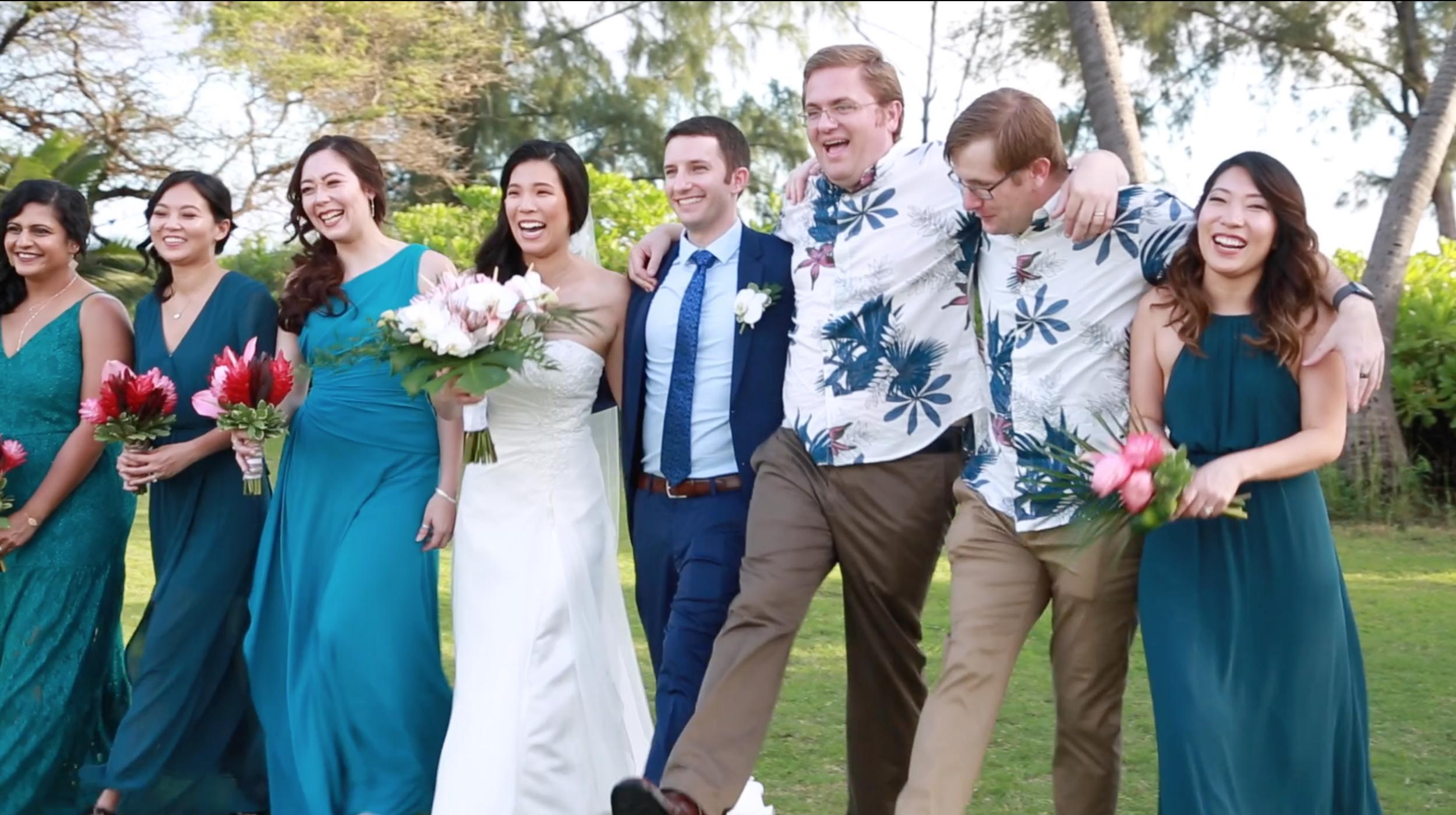 Hawaii bridal party pics
