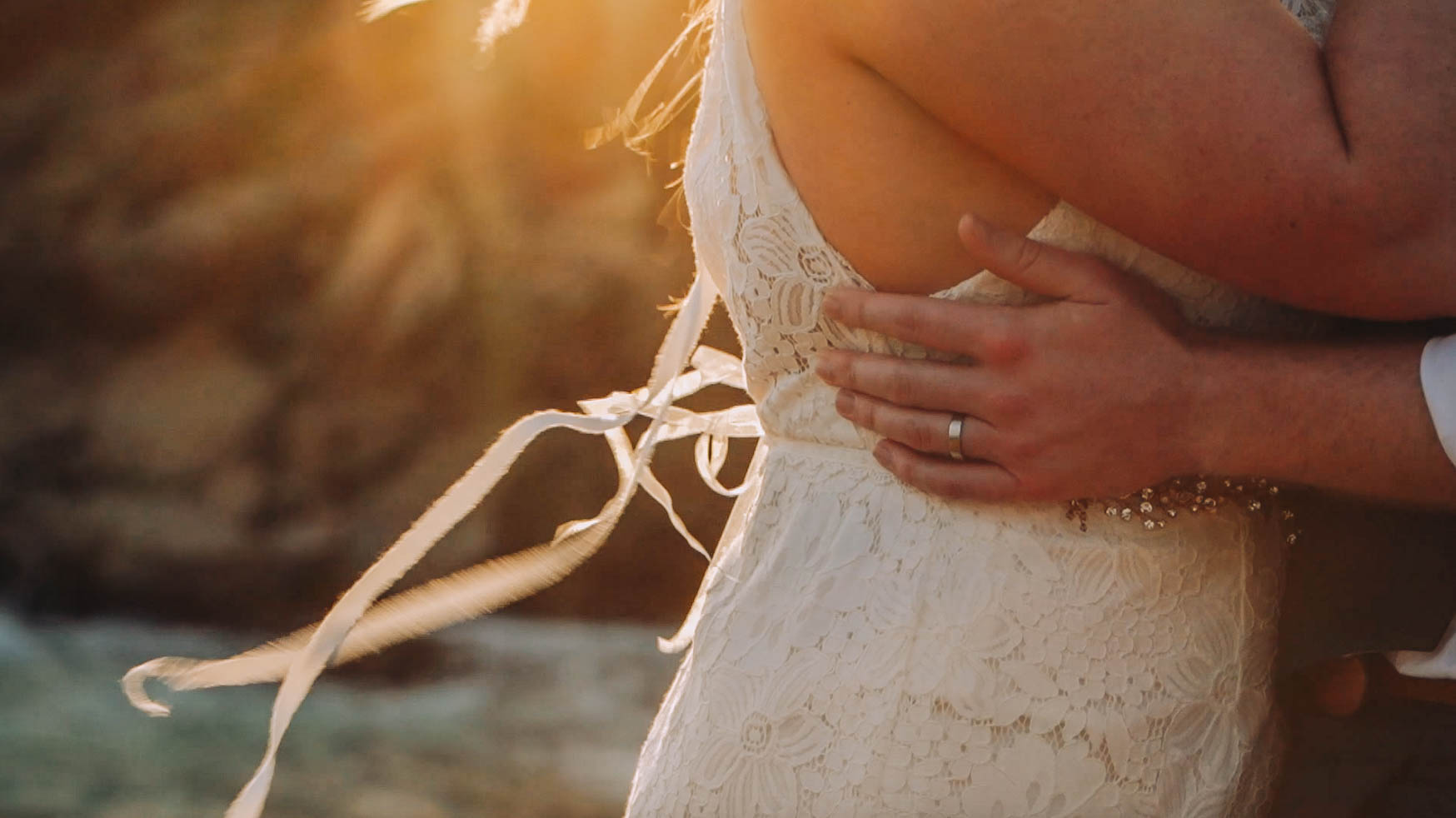 Boho Beach Wedding Dress, Hawaii