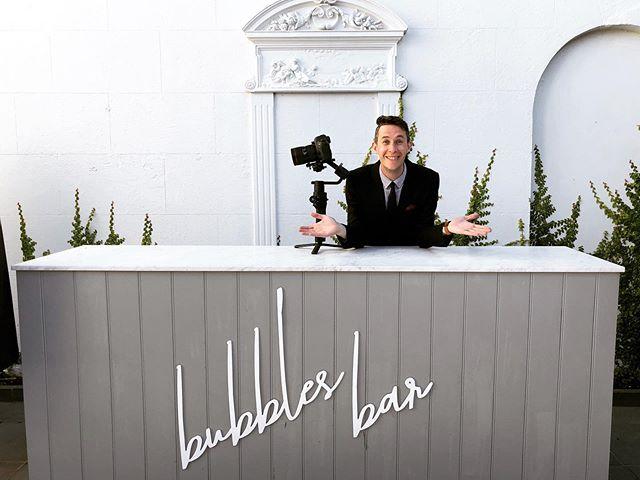 Darcy's Wedding Day Checklist:  Sunshine ✔️ Camera ✔️ Smiles ✔️ Spiffy Suit ✔️ Top Notch Venue ✔️ Bubbles ✔️