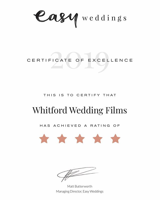 Thanks for the 5 star rating @easyweddings  We're two happy little videographers 🙏 🎥 ⭐️