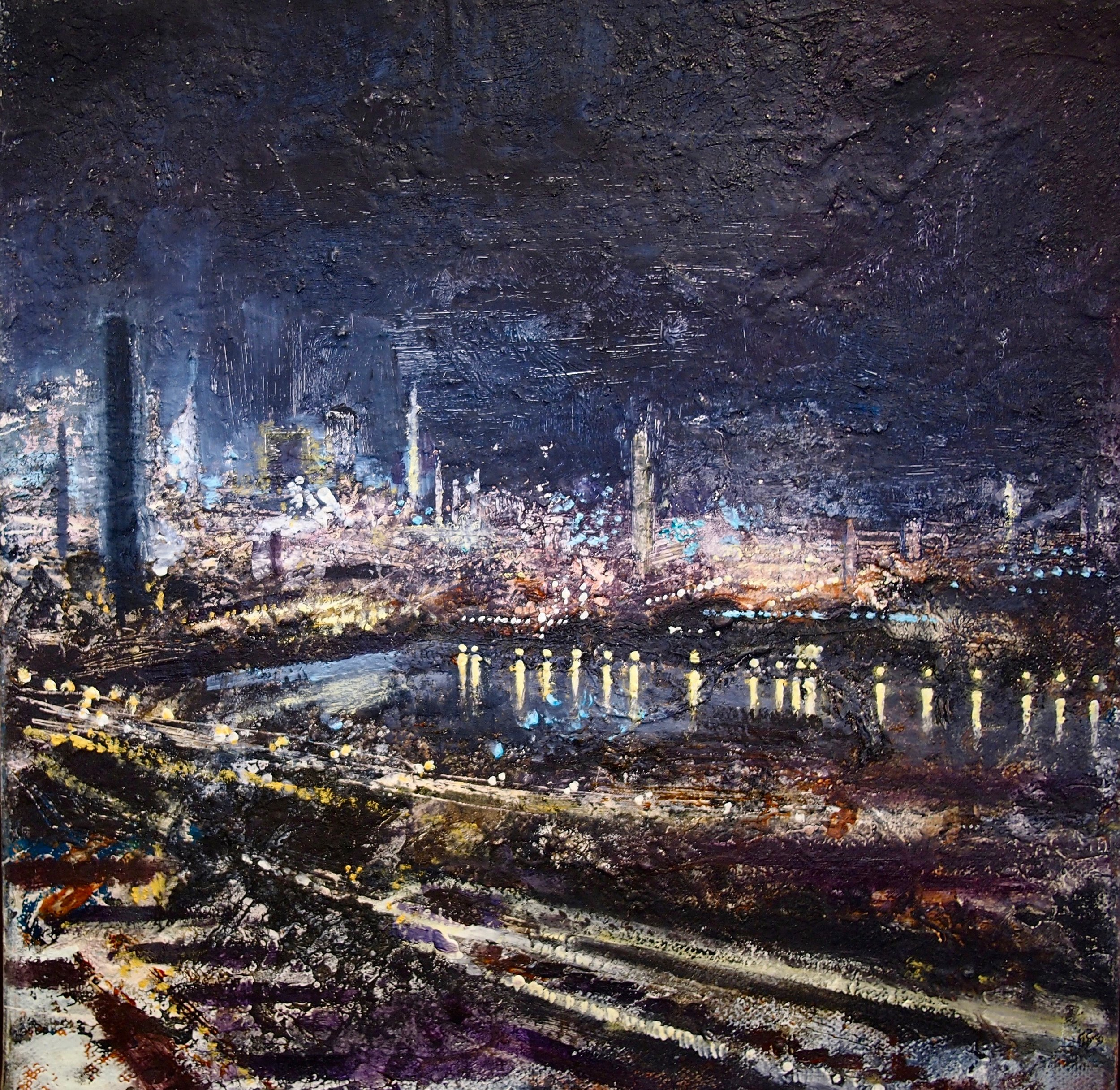 Port Talbot Night 30 x 30 cm