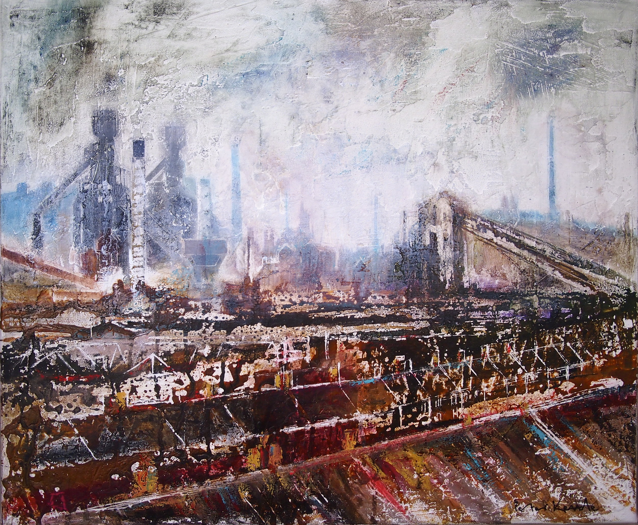 Chimneys - Port Talbot 50 x 60 cm