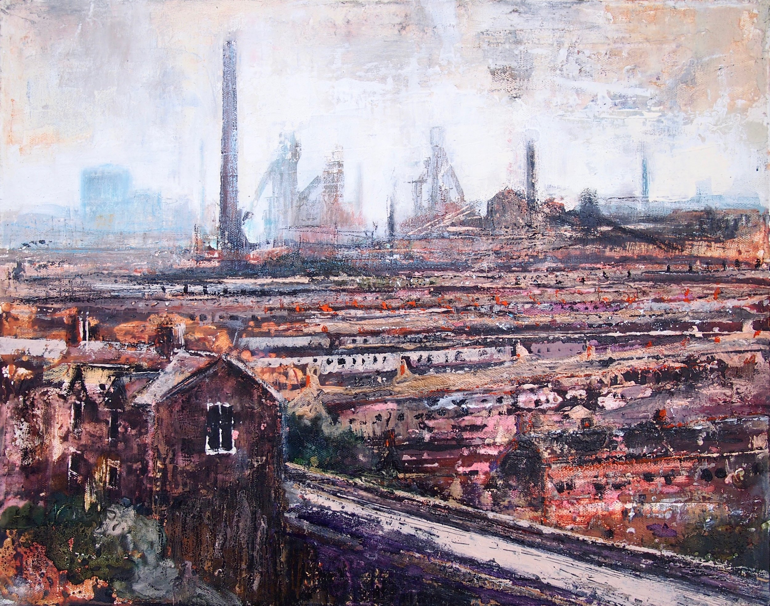 Chimneys 2 - Port Talbot 50 x 60 cm