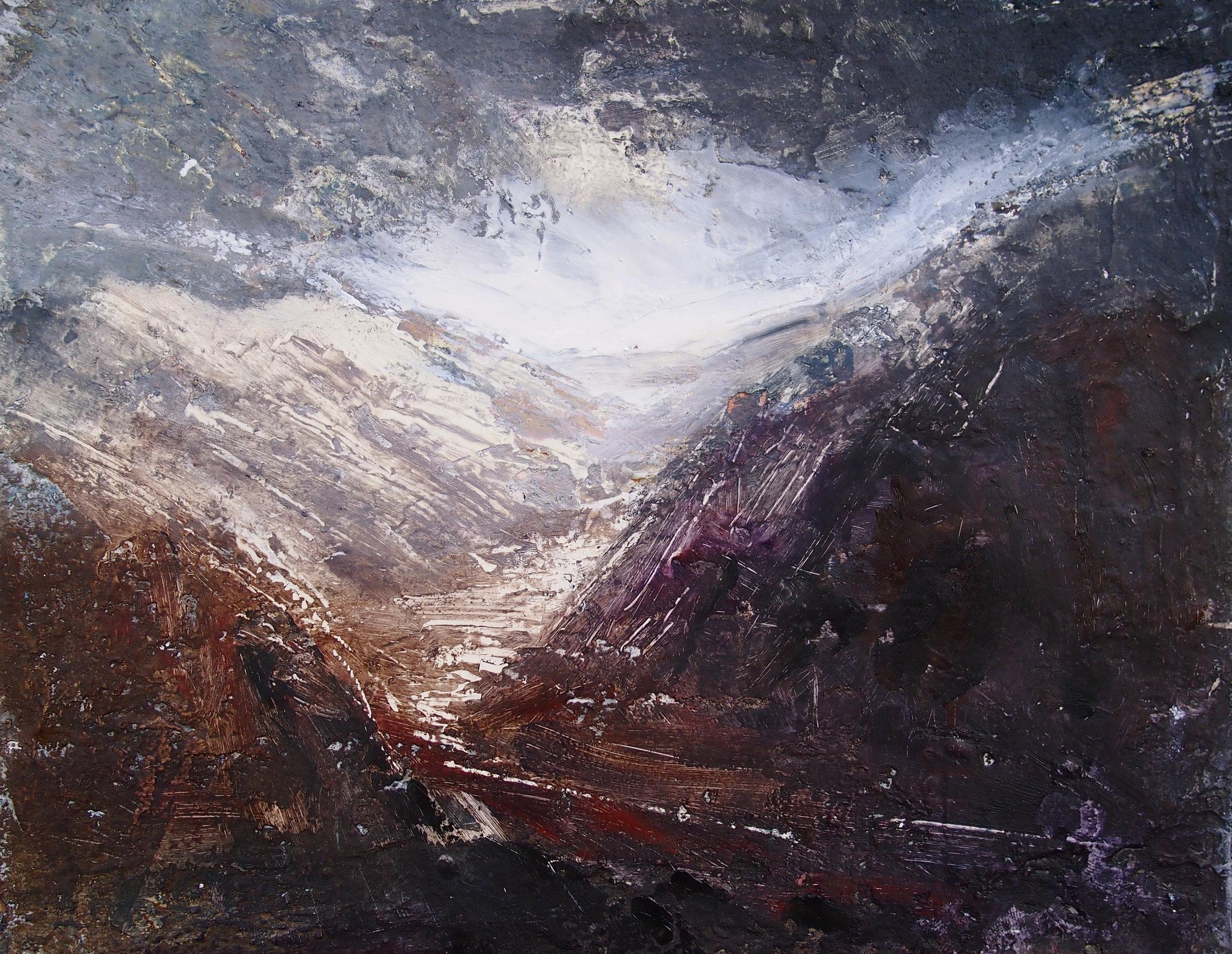 Passed Llyn Gwynant 20 x 25 cm