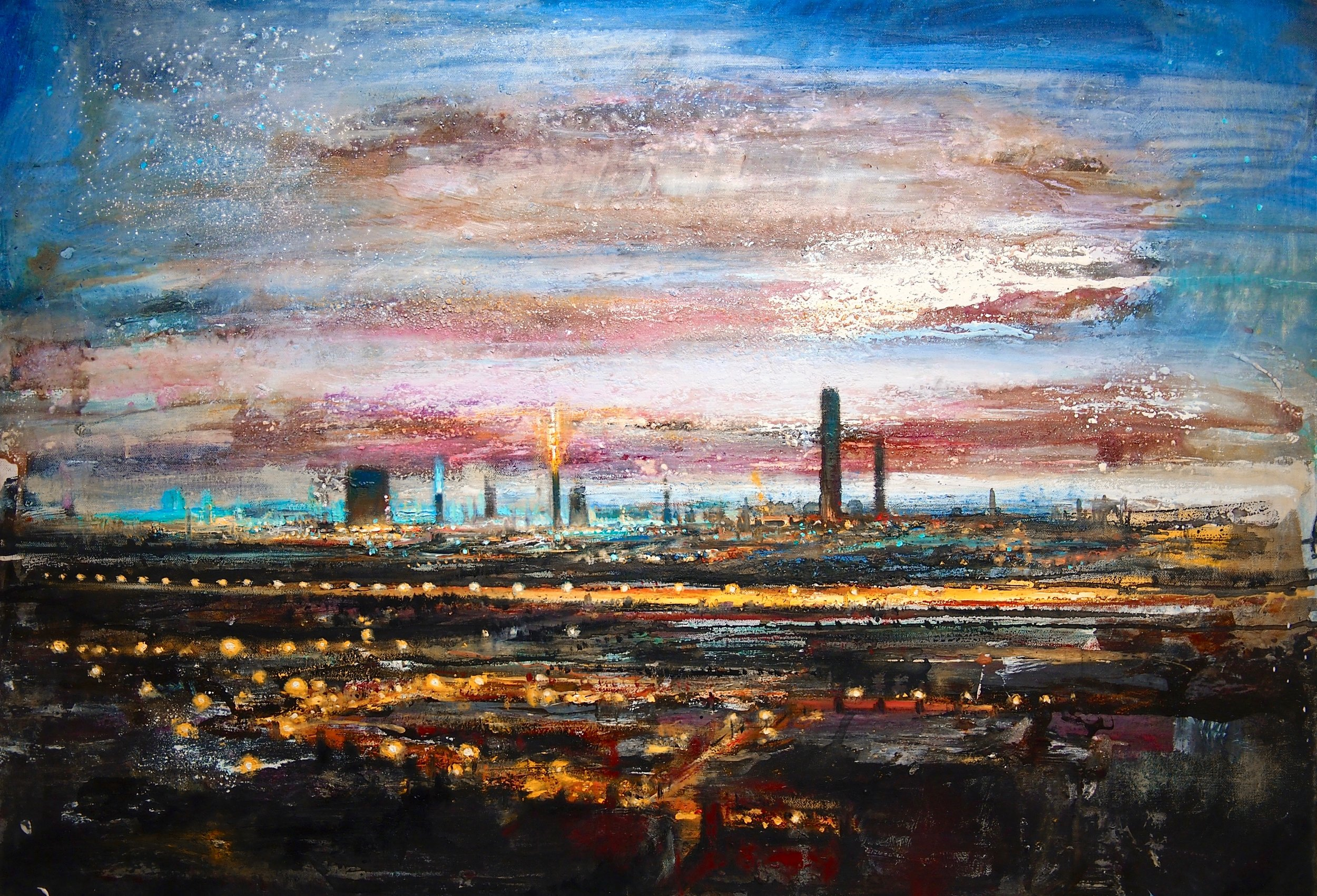 Port Talbot Twilight - 100 x 70 cm