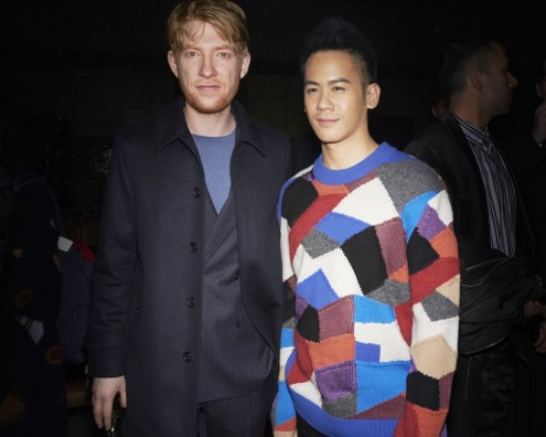 Domhnall-Gleeson-and-Mason-Lee-at-the-Burberry-February-2018-Show.jpg