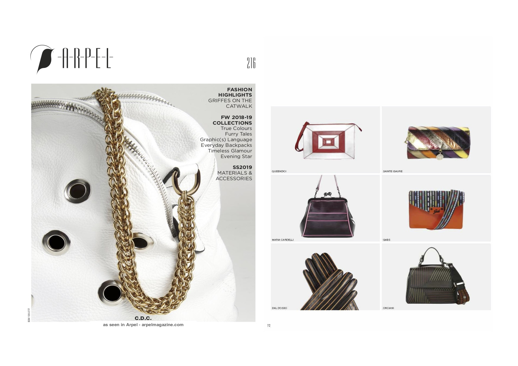 Septembre 2018 : Arpel Magazine - Gold is the new black