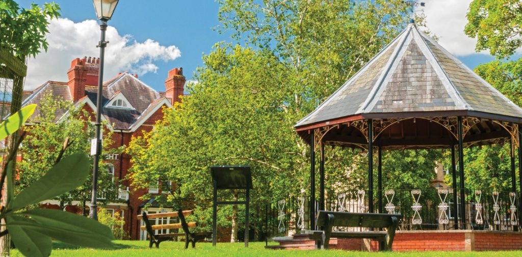 The bandstand in Llandrindod Wells