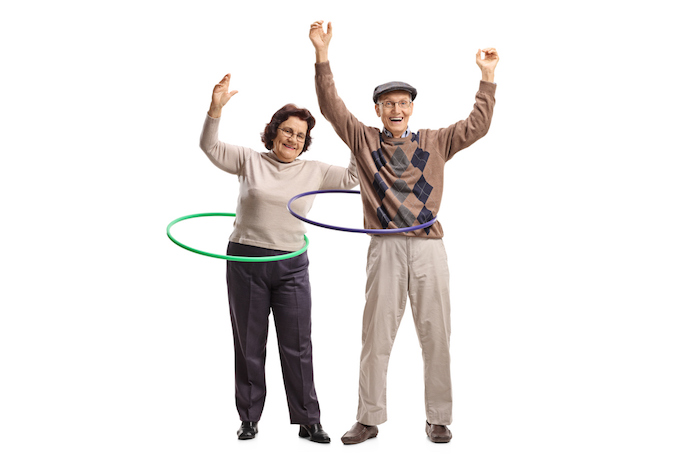 Older people exercising and moving well