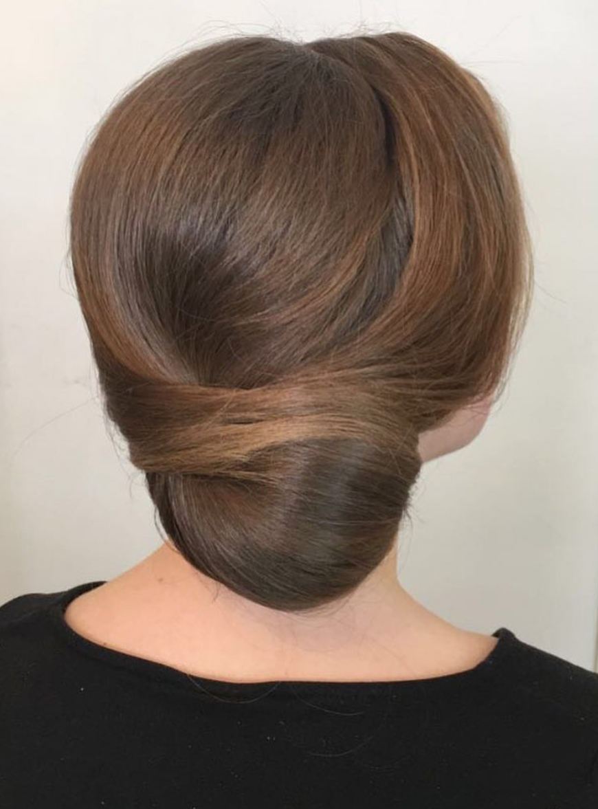 Chic side updo