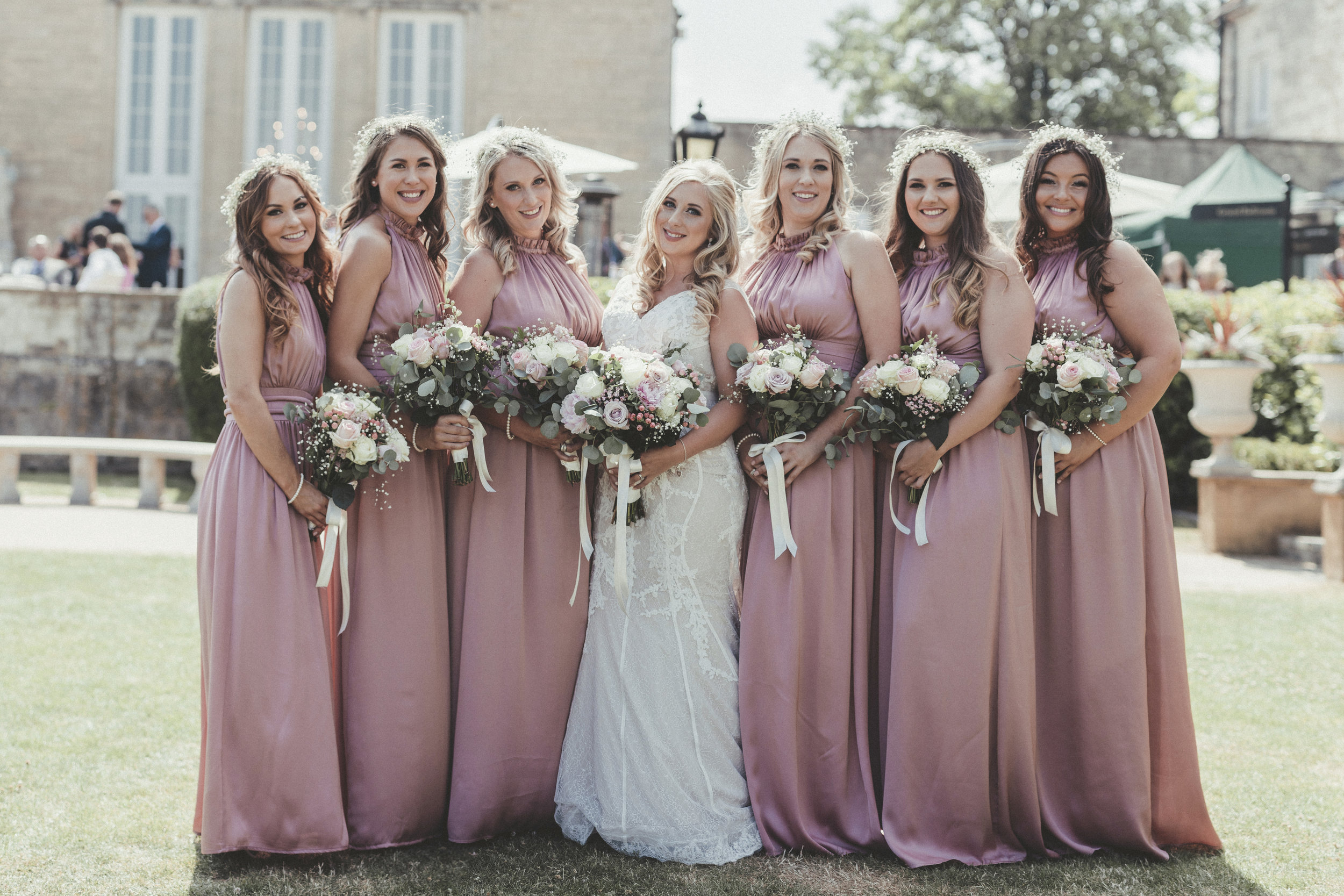 Bride and bridemsaids makeup and hair