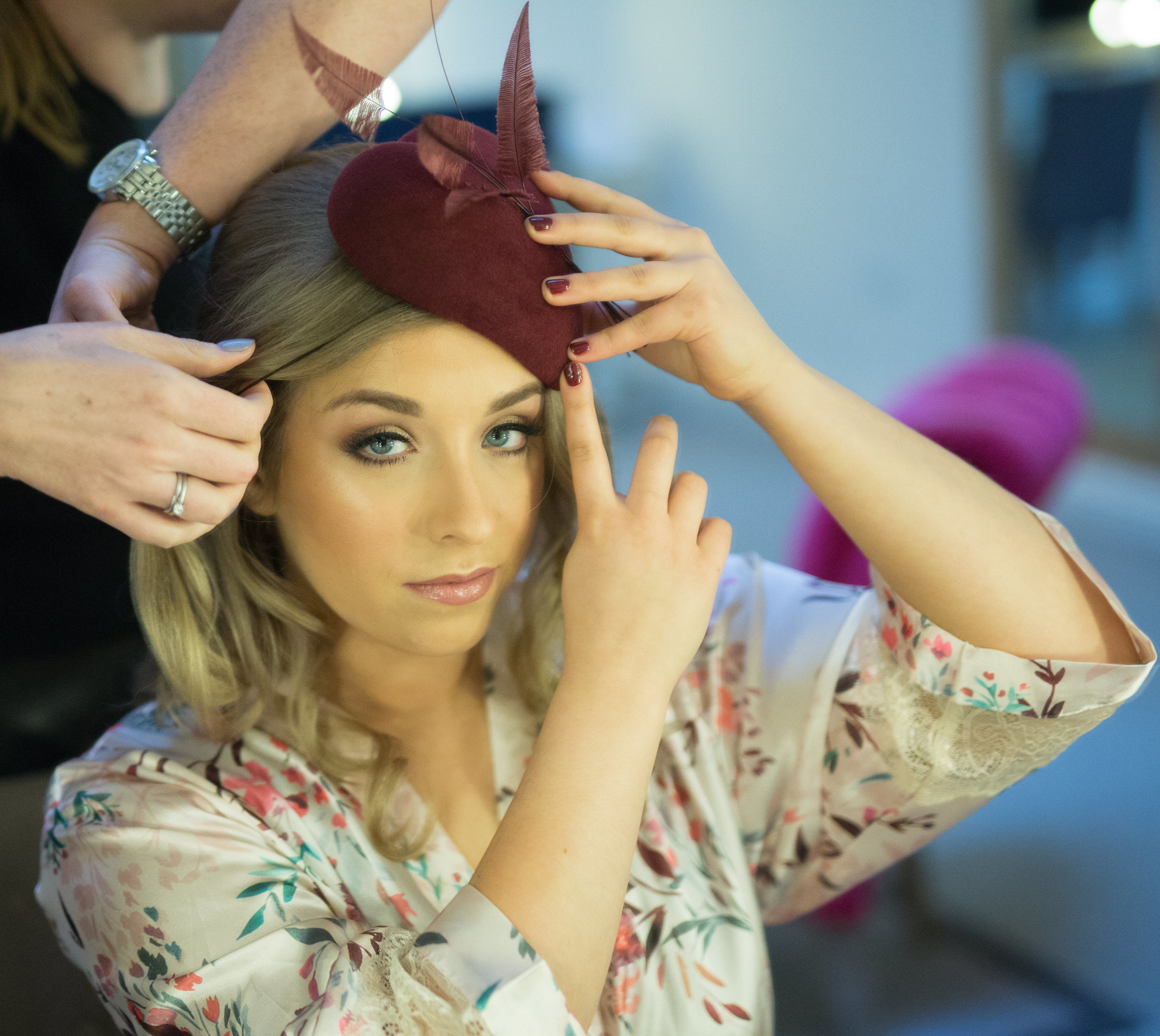 Phoebe makeup and hair