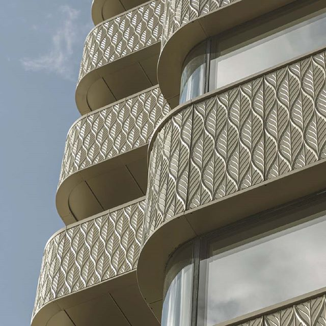 """""""One of the first cast aluminium clad buildings of its scale in Europe, The Compton is a truly bespoke addition to the London skyline, with a characterful, curved façade never seen before in the city."""" - 2019 WAN Awards  #architecture #aluminum #facadedesign #façade #facade #architecturenews #wan #wanawards #wanawards2019 #london #residentialdesign #residential #architects #architecturedesign"""