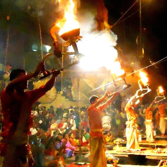 Ganga's Aarti Evening Sunset Ceremony -