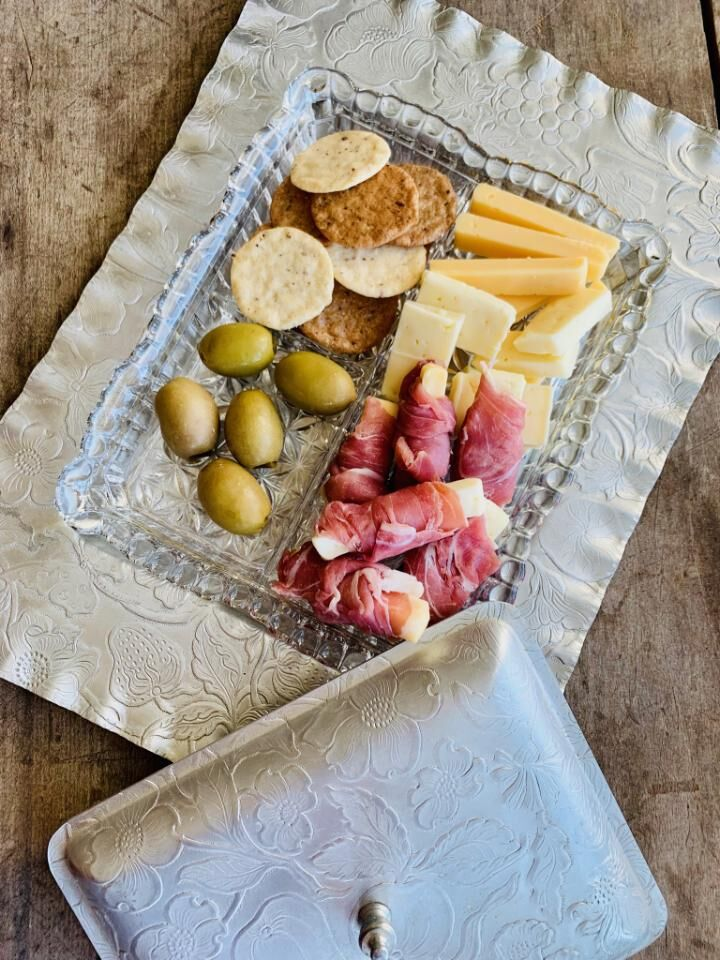 vip Charcuterie tray $35. ready for when you arrive or for special evening. pair with a delicious bottle of local wine or champagne.