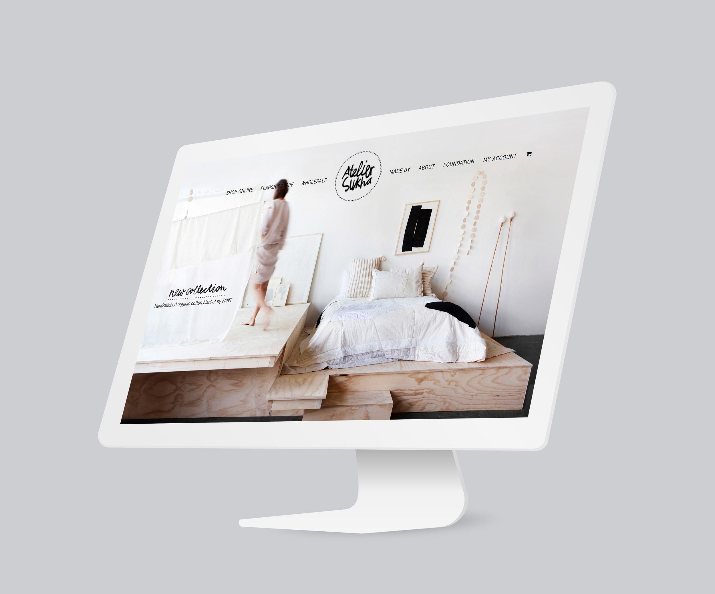 Atelier Sukha    Voor het duurzame Atelier Sukha werkte ik in een team aan de content voor hun – destijds – nieuwe website.