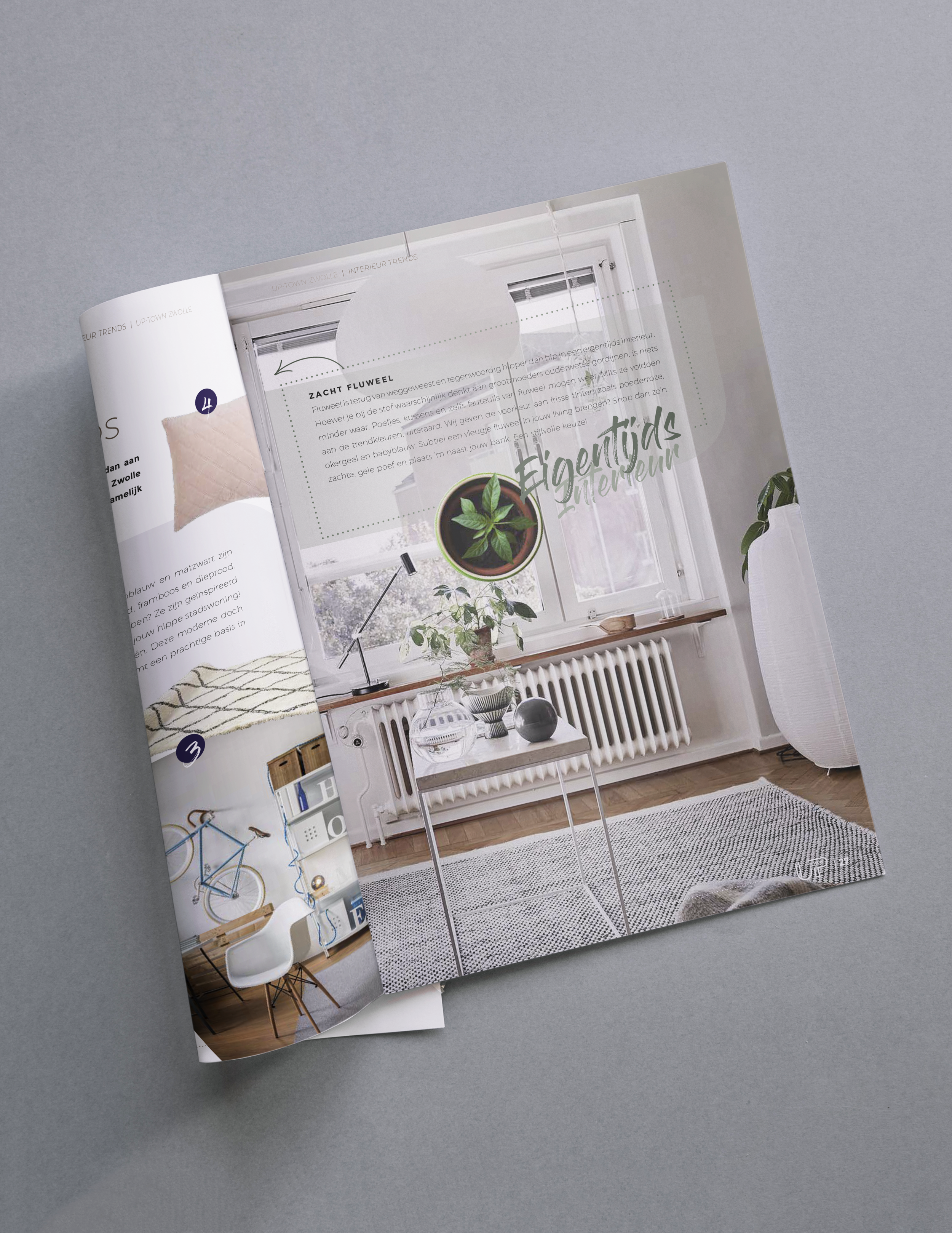Up-Town Zwolle    Voor vastgoedproject Up-Town Zwolle produceerde ik een stijlvol verkoopmagazine en nam ik daarbij de complete (beeld)redactie voor mijn rekening. Van het beschrijven van alle 76 woningen tot het uitlichten van interieurstijlen, trends en hotspots.