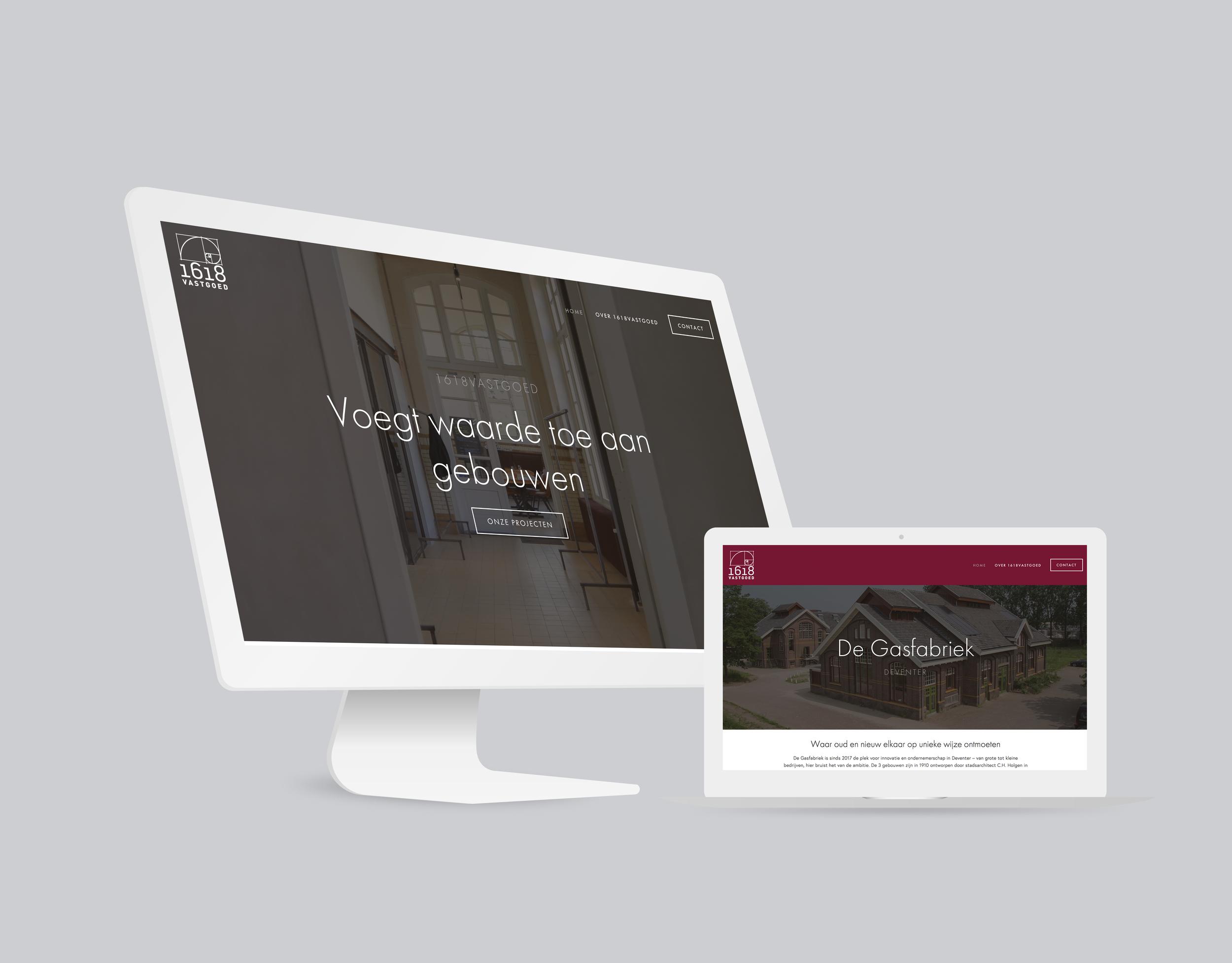 1618Vastgoed    Van 1618Vastgoed kreeg ik de opdracht om hun gedateerde website nieuw leven in te blazen. Zo gezegd, zo gedaan – er staat nu een website die volgens de klant het perfecte visitekaartje vormt. Naast het webdesign ben ik ook verantwoordelijk voor alle webteksten en fotografie.