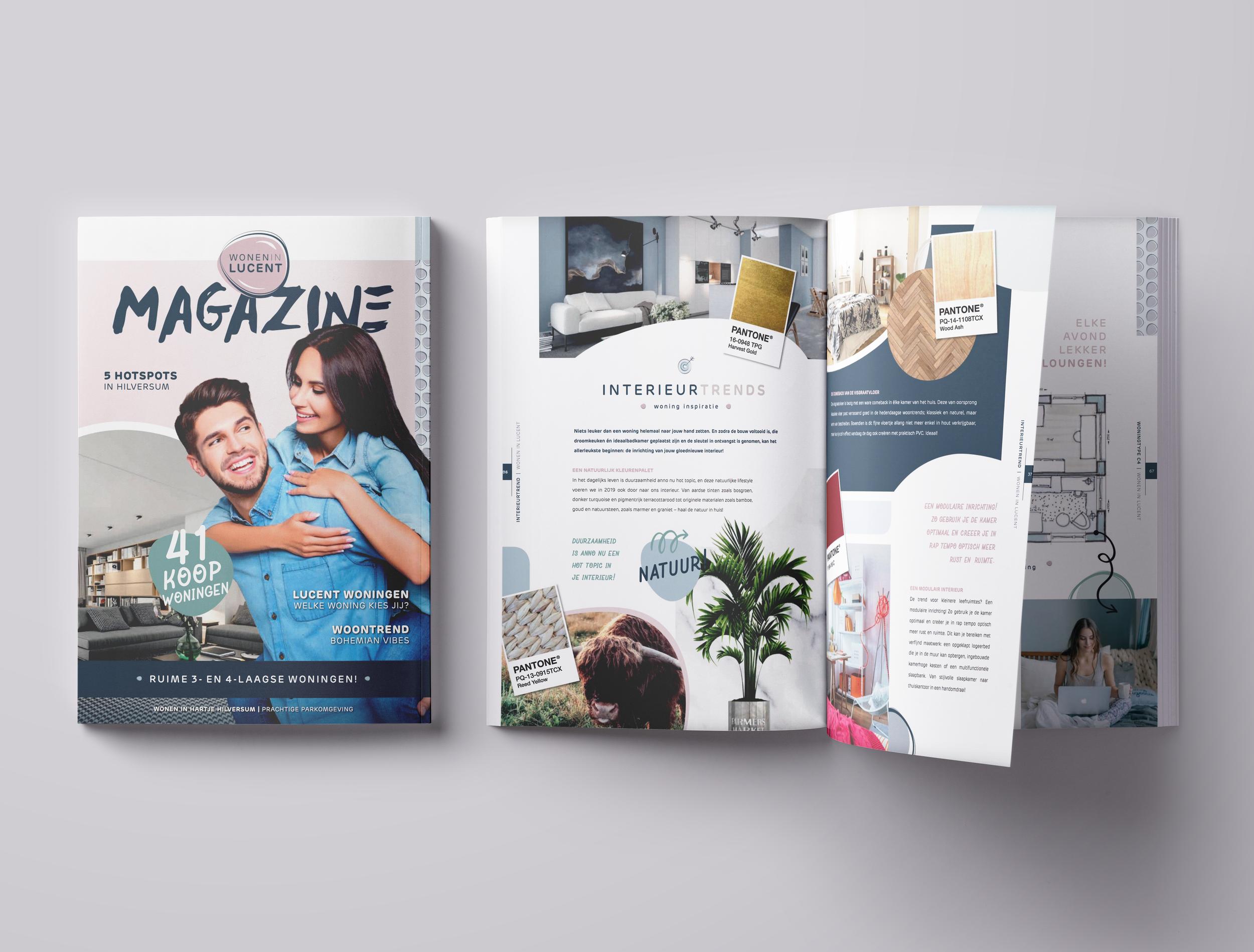 Wonen in Lucent    Voor Wonen in Lucent, een woonproject in Hilversum, produceerde ik een magazine voor potentiële kopers. Naast verkooptekeningen staat het magazine vol fijne interieurinspiratie.