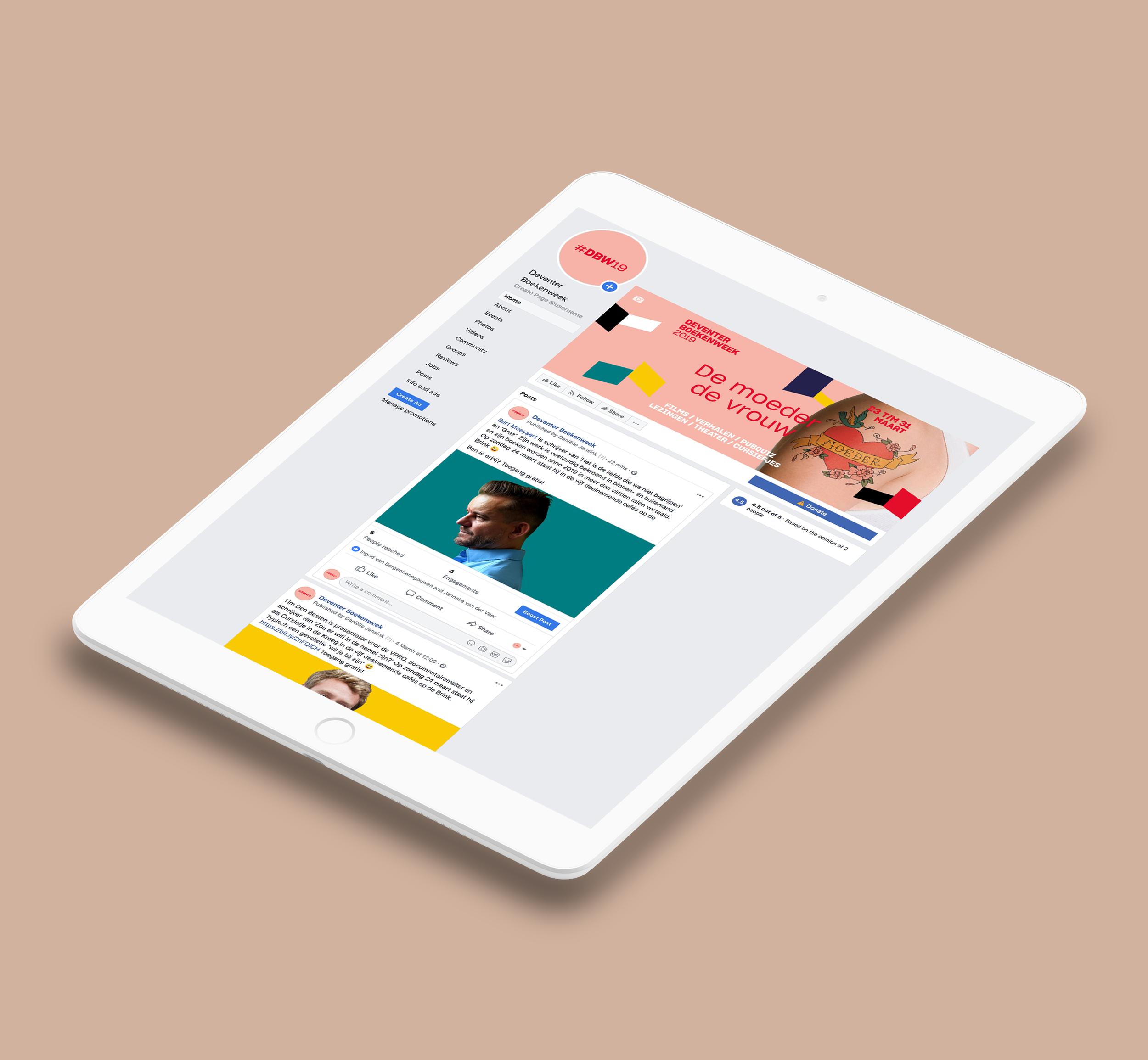 Deventer Boekenweek 2019    Voor de Deventer Boekenweek 2019 creëerde ik een content planning voor zowel Instagram als Facebook.
