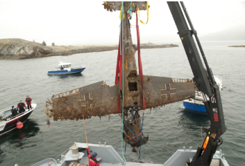 The wreck being salvaged after 67 years under water -