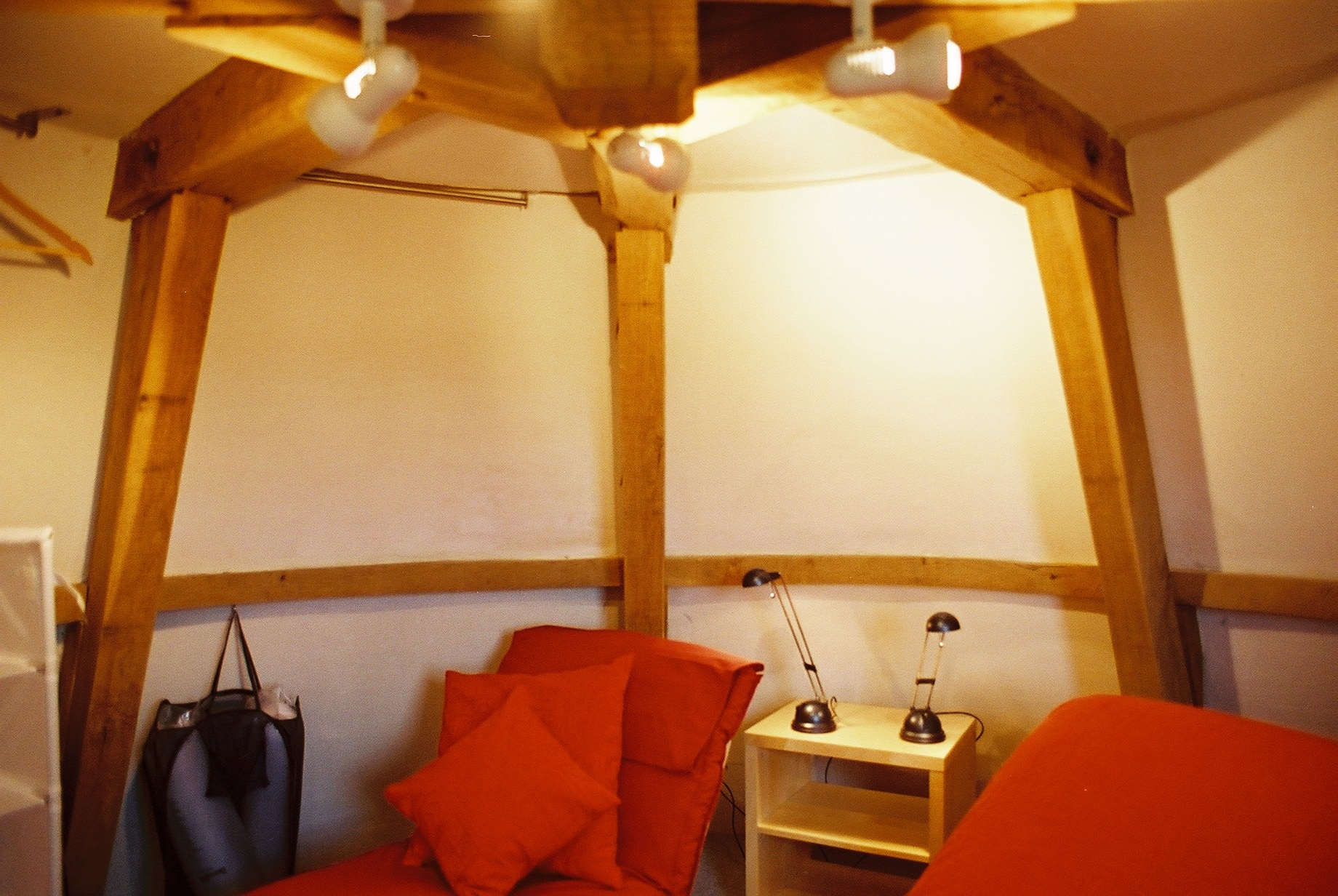 Attic / Upper Bedroom - This can be used either as a second bedroom with a futon seat/bed, or it can be used as a small sitting room with TV/DVD player in case of wet weather. It also makes an excellent writer's retreat and many books have been written in this room.