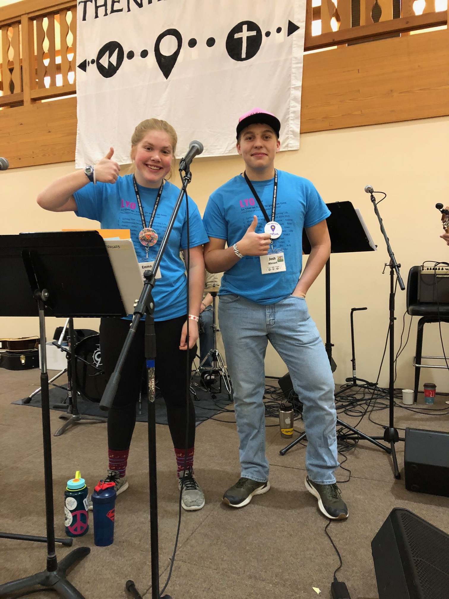 Emma and Josh are members of the LYO (Lutheran Youth Organization) Board and help lead worship.