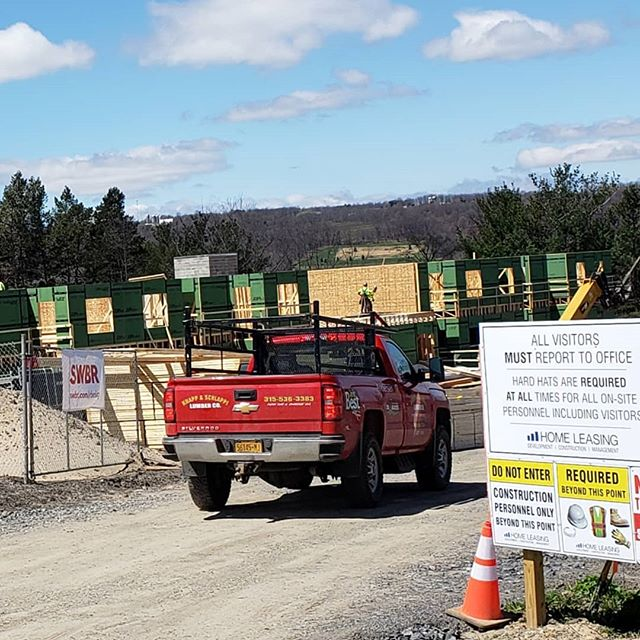 Not the best picture due to all the activity at Keuka Gardens apartment complex development!