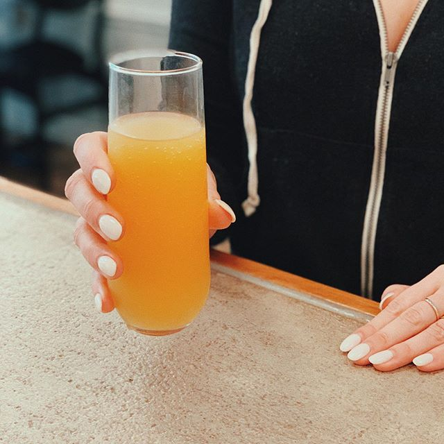 We have mimosas ready for your day off! Come and grab one, only $8 & made with Can Xa Cava Brut. Cheers! 🥂