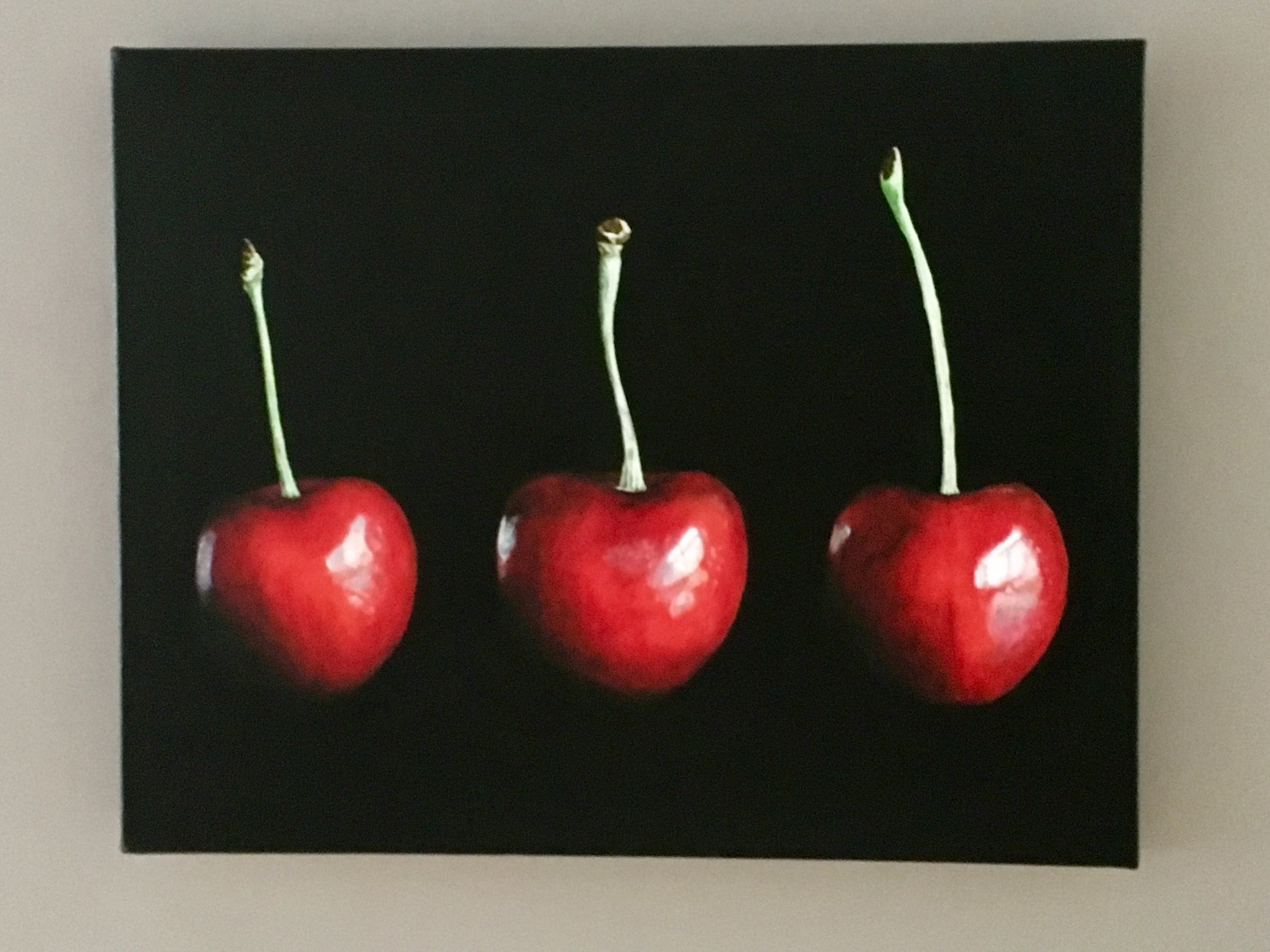Three Cherries (Black)