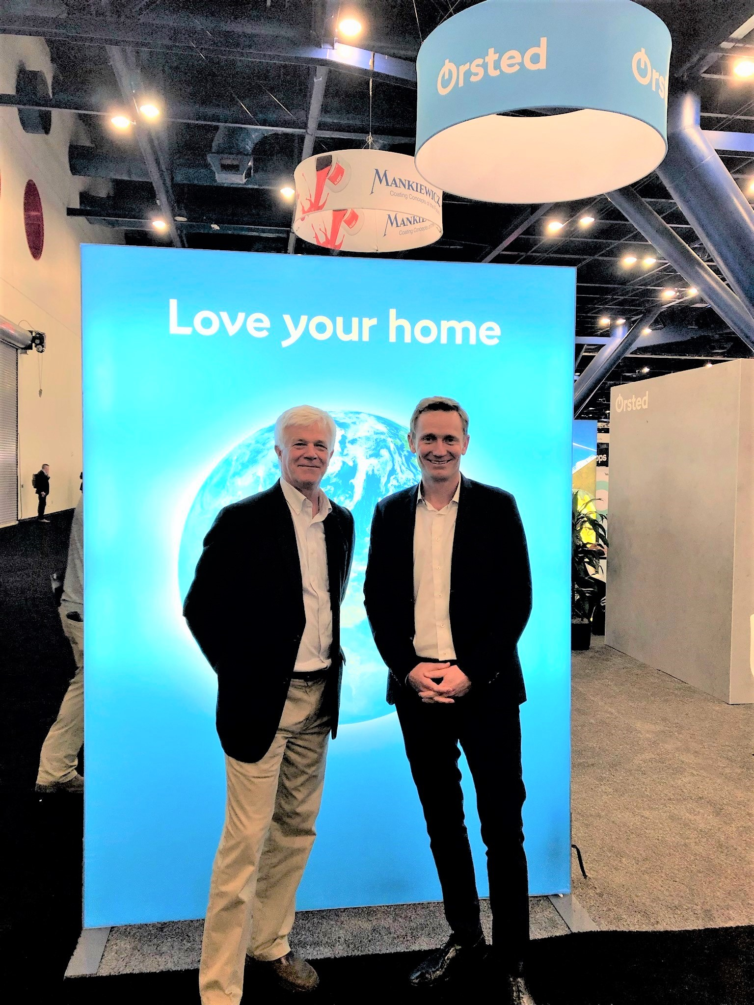 New York Offshore Wind Alliance Director, Joe Martens, and Orsted CEO, Thomas Brodstrom, at AWEA's WINDPOWER 2019 conference in Houston.