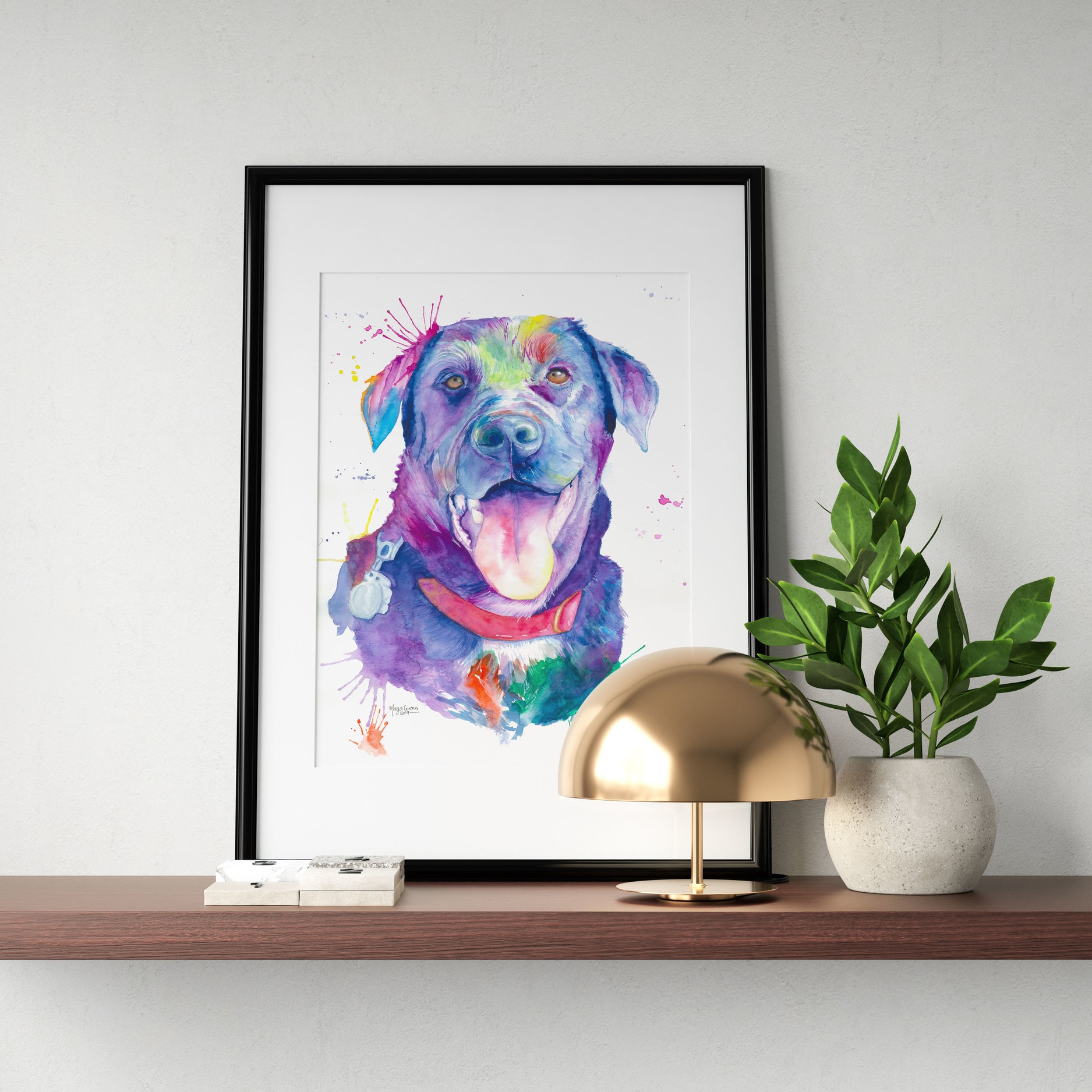 Bentley - ✰✰✰✰✰The painting I had commissioned is so very special to me. What Maya created has absolutely blown me away. I couldn't imagine anything more perfect.If you are looking for someone to capture your fur baby in an absolutely stunning way, you won't find better than Maya. This girl is insanely talented. ❤️❤️❤️— Jessica Hanna, Calgary AB - Canada